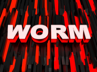 Computer worm background