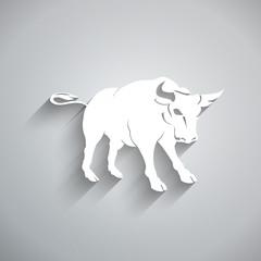 Bull. 3D white paper style