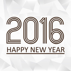 happy new year 2016 on the triiangle papaper pattern eps10