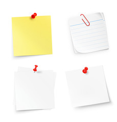 Set of note isolated on white background. Vector illustration. Ready for your design