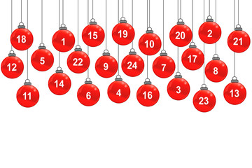 Weihnachtskugeln - Zahlen