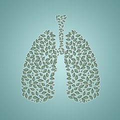 illustration of lungs with leaves