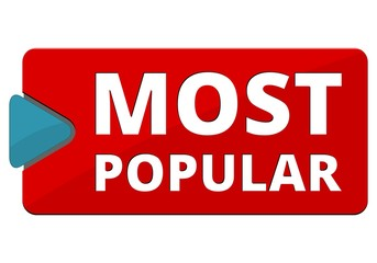 Most Popular sign, button, icon