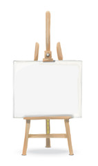 Sketch Vector Easel and Canvas. Rough sketch Front view of an Easel and Canvas.