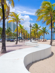 Fototapete - The beach at Fort Lauderdale in Florida