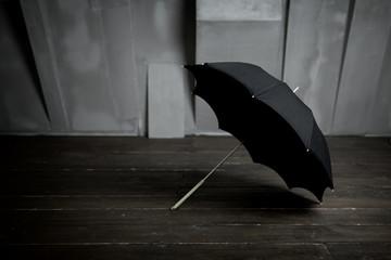 Opened black umbrella