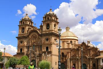 Historic Iglesia de la Compania in the Plaza de Armas of Cusco i