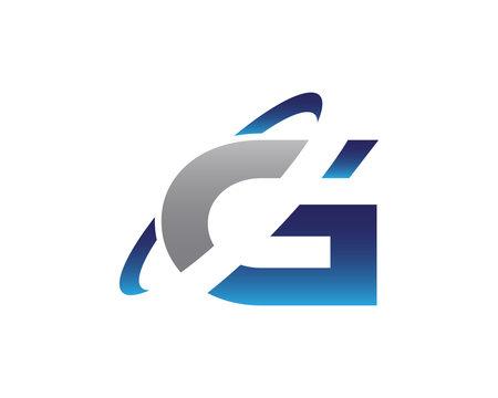 G Swoosh Letter Initial Logo