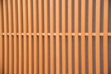 detail of wood Japanese house in Gion district in Kyoto Japan