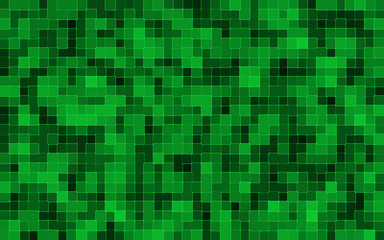abstract green square pixel mosaic background
