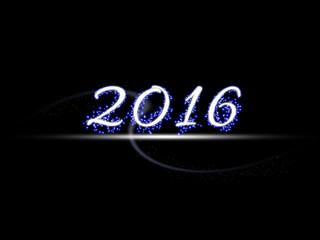 Year 2016 illustration design element