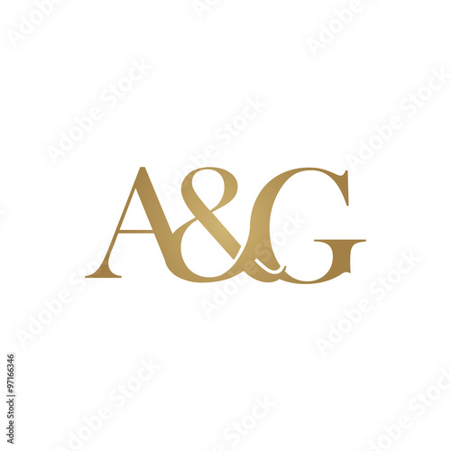 Ag Initial Logo Ampersand Monogram Logo Stockfotos Und