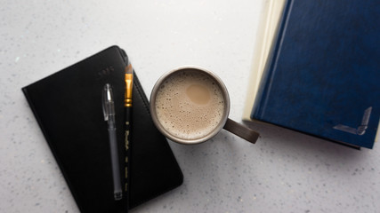 A notebook bound in black