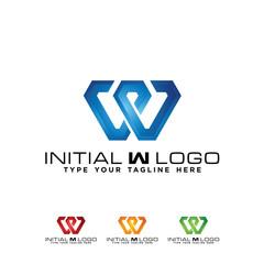 Initial W classic Hotel logo icon