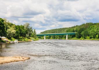 Neman River. Druskininkai, Lithuania