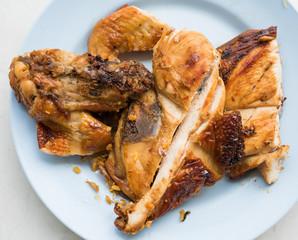 Grilled Chicken thai food in thailand.