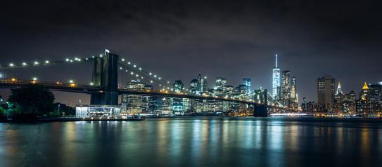 golden bridge at night