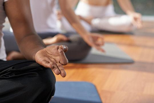 Meditation and yoga concept