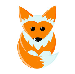 Little red cartoon funny fox.