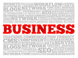 BUSINESS word cloud, business concept