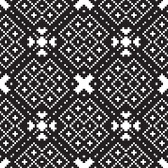 embroidery ethnic geometric seamless patterns