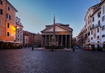 Fototapete - Pantheon in Rome, Italy