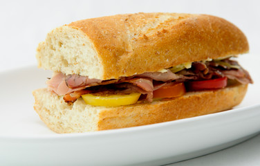 delcious roast beef sandwiches with heirloom tomatoes