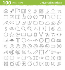 Vector universal inerface icons