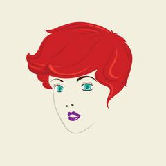 Short Curly Hair Woman Hair Style.