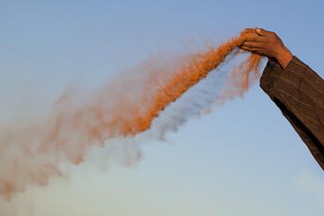 Fotobehang Marokko sabbia rossa desertica