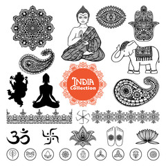 Hand Drawn  India Design Elements Set