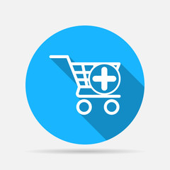 icon shopping cart add
