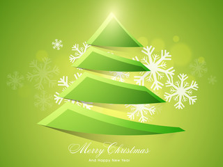 Elegant greeting card for Christmas and New Year celebration.