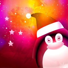 Cute penguin for Merry Christmas celebration.
