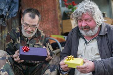 homeless and christmas gift