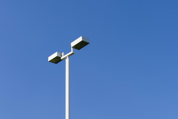 lamppost with daylight blue sky background