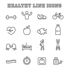 healthy line icons