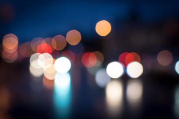 Night Defocused Street Traffic