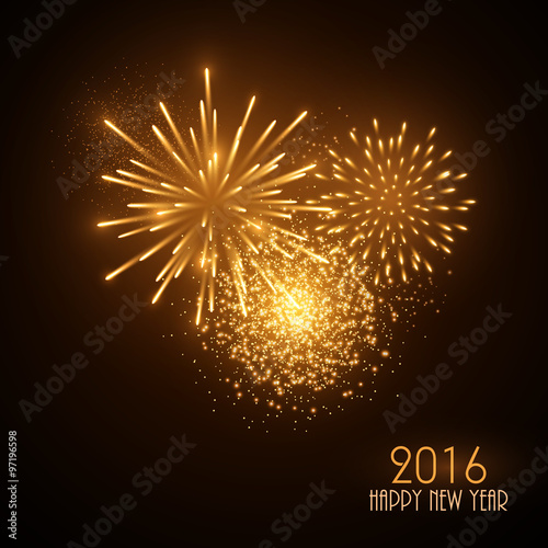 colorful fireworks on black background new year greeting card stock image and royalty free vector files on fotoliacom pic 97196617