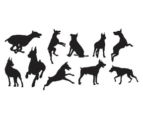 Silhouette Doberman Dog