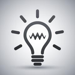 Light bulb icon, vector