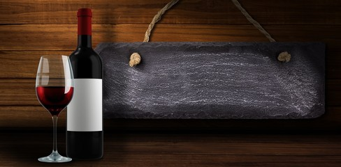 Composite image of red wine