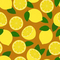 Lemons. Seamless pattern.