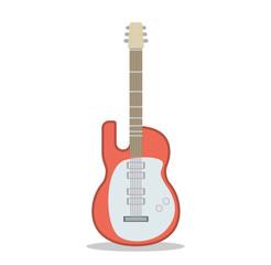 Flat Guitar. Vector Illustration. Musical Instrument