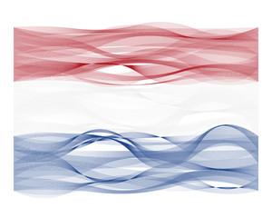 Wave line flag of the Netherlands