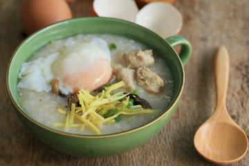 rice porridge with minced pork