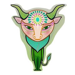taurus - decorative zodiac sign