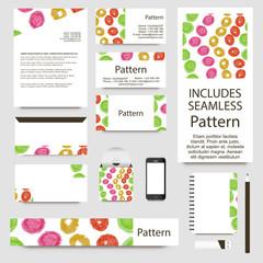 Vibrant watercolor confetti cards collection. Includes seamless