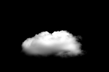 Papiers peints Ciel Beautiful Single white cloud isolated over black background