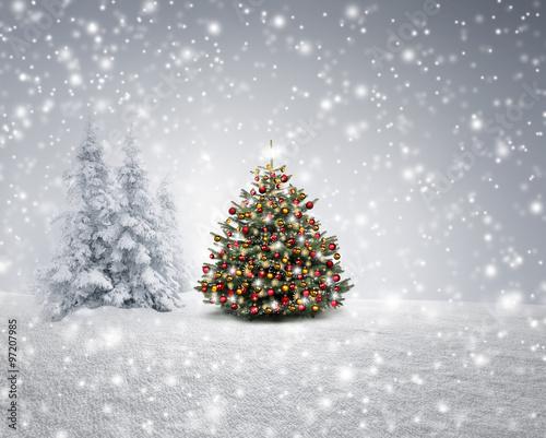 winterlandschaft mit weihnachtsbaum neujahrsblog 2020. Black Bedroom Furniture Sets. Home Design Ideas